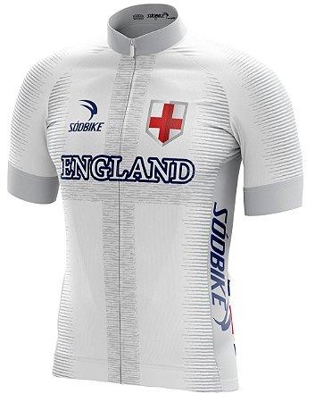 Camisa Ciclismo Inglaterra Branca