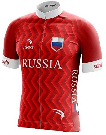 Camisa Ciclismo Russia