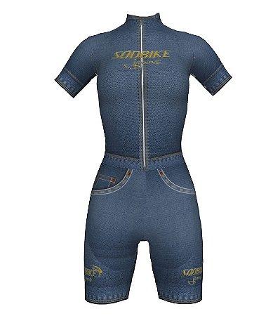 Macaquinho Ciclismo Jeans