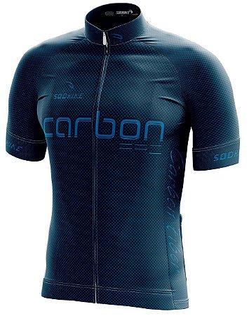 Camisa Ciclismo Carbon Azul