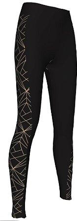 Calça Ciclismo Feminina Lux Dourada