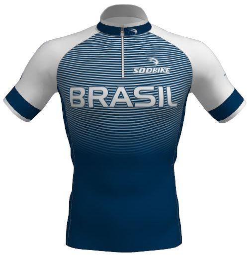 Camisa Ciclismo Infantil Olimpica Branca
