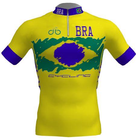 Camisa Ciclismo Infantil Brasil