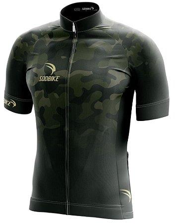Camisa Ciclismo Camuflada Verde