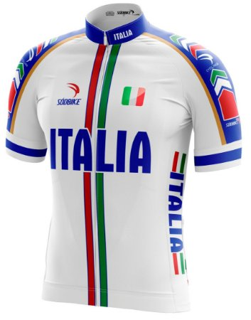 Camisa Ciclismo Italia Branco