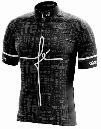 Camisa Ciclismo Fé Preta