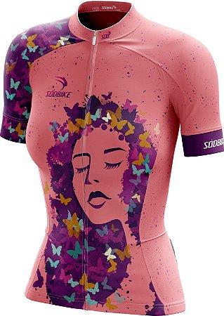 Camisa Ciclismo Feminina 018 Rosa