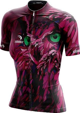 Camisa Ciclismo Feminina Coruja-2