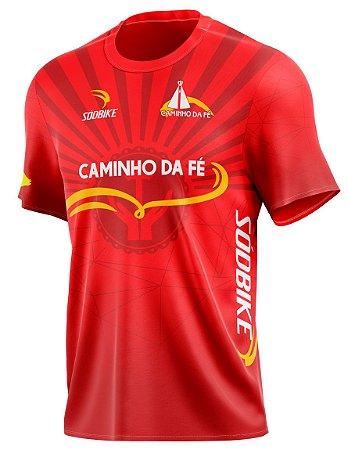 Camiseta Casual Caminho da Fé - Vermelha