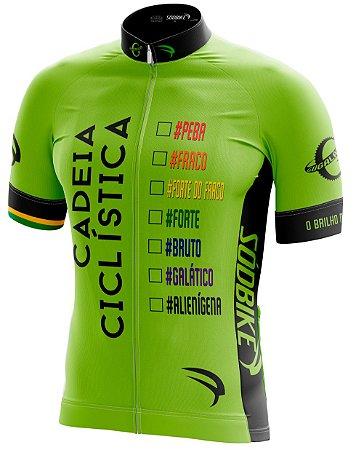 Camisa Cadeia Ciclística Verde