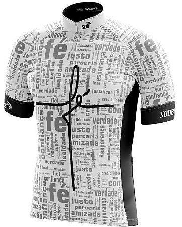 Camisa Ciclismo FÉ Branca - Ziper Full