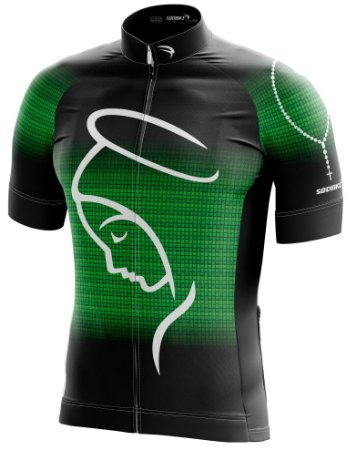 Camisa Ciclismo NSA-2 Verde Ziper15cm