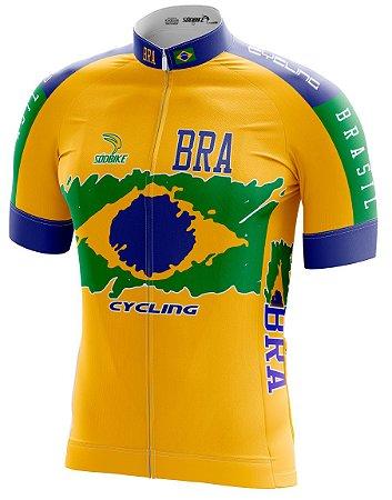 Camisa Ciclismo Brasil Amarela