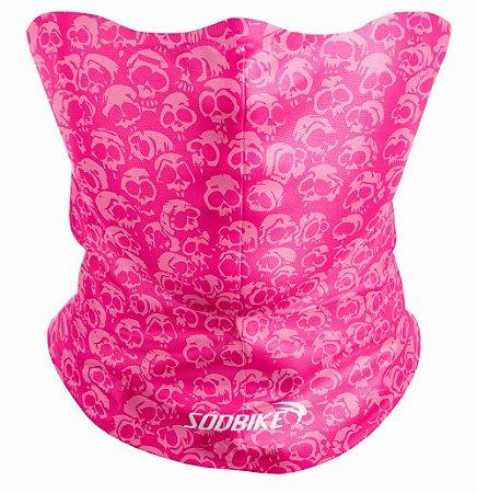 Bandana Tubular Sódbike Caveira Pink