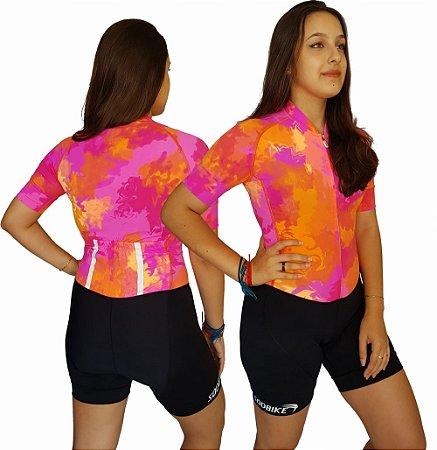 Macaquinho Ciclismo Tie Dye 100% Poliamida