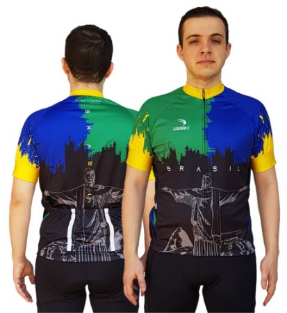 Camisa Ciclismo Sódbike Nações - Brasil Preta