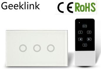 Interruptor Integente Touch 3 teclas branco