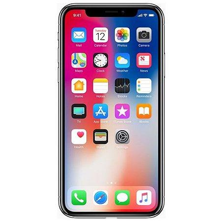 "Iphone X Cinza Espacial 64GB Tela 5.8"" IOS 11 4G Wi-Fi Câmera 12MP - Apple"
