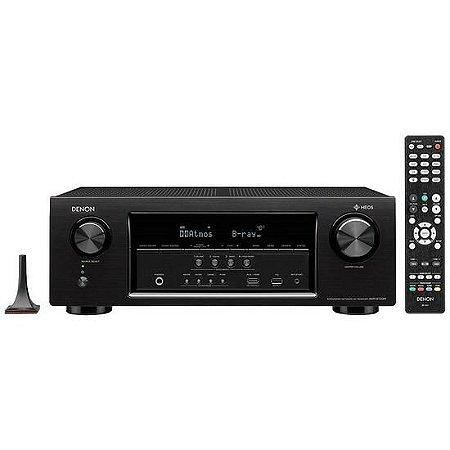 Receiver Denon AVR-S730H 7.2ch Wi-Fi Bluetooth 4K 3D DolbyAtmos DTS:X Heos - Preto/110V