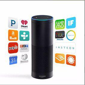 Mini caixa de som Amazon Alexa Preta