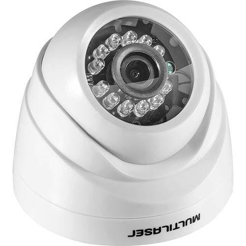 Câmera Dome Ahd 720p 3,6mm IR 12m /  12 Leds Branca - Multilaser