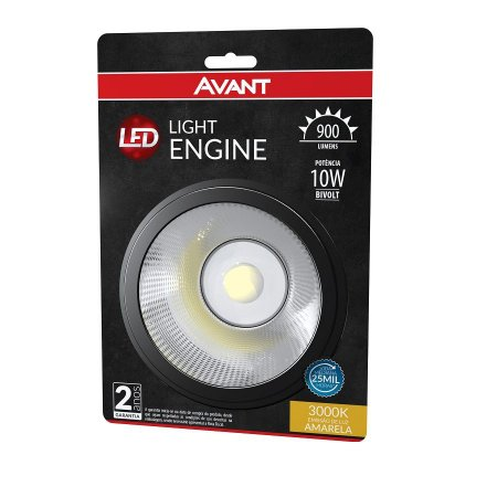 Lâmpada Ar111 10W Bivolt 3000K Light Engine Avant