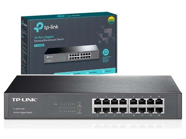 Switch 16 Portas TP-Link Gigabit 10/100/1000MBPS TL-SG1016D