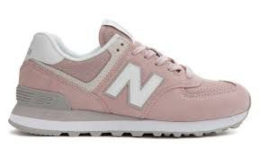 new balance 574 rosa e branco