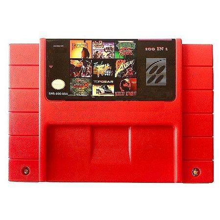 Cartucho Super Nintendo Super 100 Jogos em 1 com Bateria para Salvar!