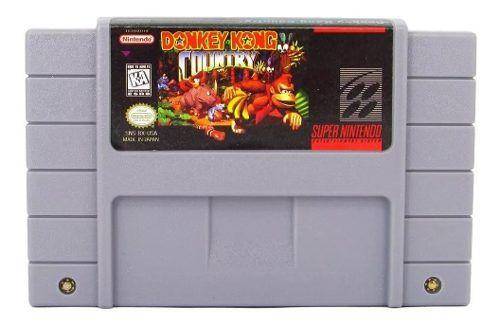Donkey Kong Country 1 Cartucho Super Nintendo com Bateria