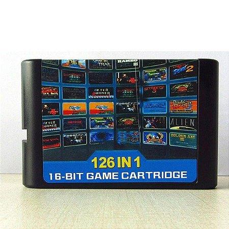 Cartucho Mega Drive 126 jogos em 1 Multi Games