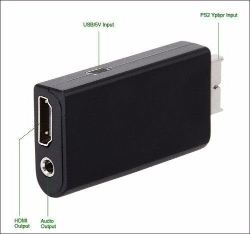 Adaptador Conversor Ps2 Audio Vídeo Av Para Cabo Hdmi