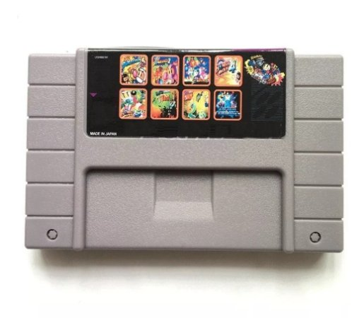 Cartucho Super Nintendo 8 Em 1 Bomber Man 1 2 3 4 Earthworm Jim 1 2 Captain Commando