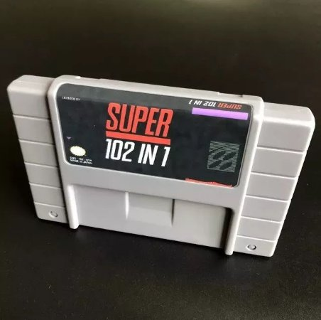 Cartucho Super Nintendo 102 Jogos em 1