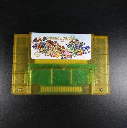 Cartucho Super Nintendo com 68 jogos MultiGames com memória para salvar o progresso