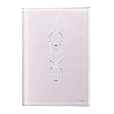 Interruptor Touch 3 Teclas Caixa 4X2 Branco