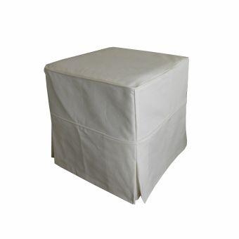 Pufe 45x45 com capa off white