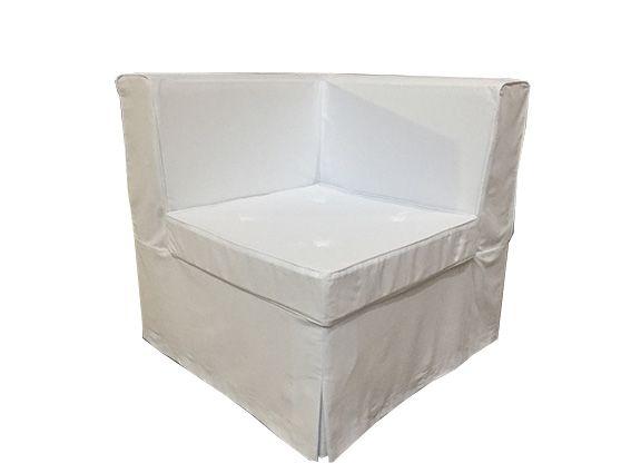Banco futon com encosto esquina