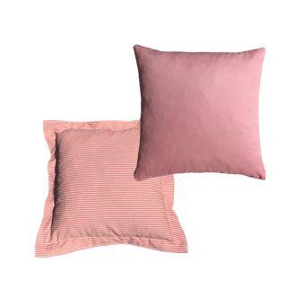Almofadas 40x40 em Tons de Rosa e Coral