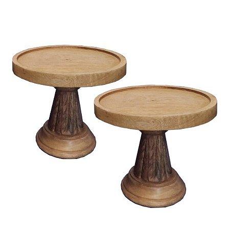 Dupla de doceiras em madeira