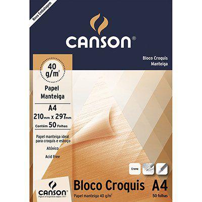 PAPEL MANTEIGA CANSON A4 40G C/50FOLHAS