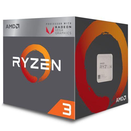 Processador AMD RYZEN 3 2200G 3.5GHz 6MB com Wraith Stealth Cooler / Radeon VEGA 8 / AM4 / 65W (YD2200C5FBBOX)