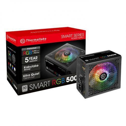 Fonte ATX 500W 80Plus White PCF Ativo Thermaltake Smart RGB (PS-SPR-0500NHFAWB-1)