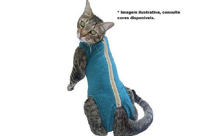 Roupa Pós-Cirúrgica Gaby Pet com Ziper para Gato Tamanho  P