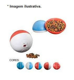 Brinquedo e comedouro Bola Crazy Ball - 300gr Azul para Cães