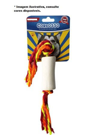 Brinquedo para Cães Cordosso Pequeno - Osso com Corda