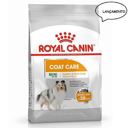Ração Royal Canin Cães Adultos Mini Coat Care Cuidado com a Pelagem 2,5kg
