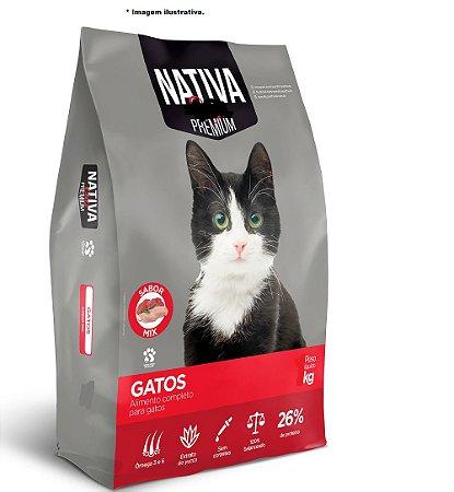 Ração Premium Nativa Gatos Adultos 10,1kg