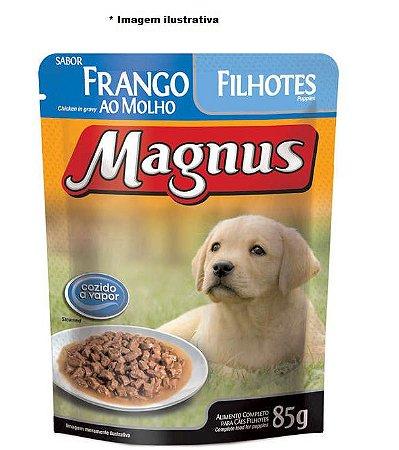 Ração Úmida Magnus Sachê Para Cães Filhotes Sabor Frango ao Molho - 85g