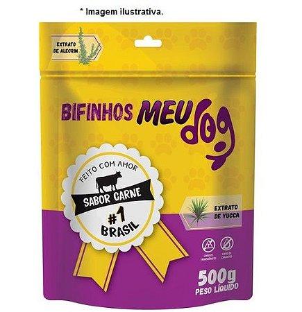 Bifinhos Meu Dog sabor Carne para cães 500gr